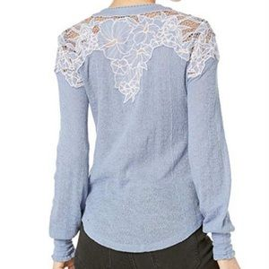 🎁 Free People Easy Breezy Henley NWT